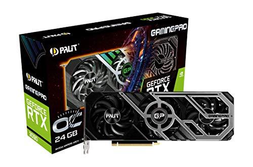 Palit GeForce RTX 3090 GamingPro OC 24GB GDDR6X Ray-Tracing Graphics Card, 10496 Core, 1395 MHz GPU, 1725 MHz Boost, 3 x DisplayPort, HDMI, Advanced TurboFan 3.0
