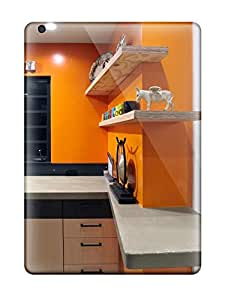 Premium Protection Concrete Countertops With Wood Floating Shelves Case Cover For Ipad Air- Retail Packaging