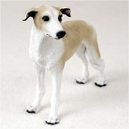 Greyhound, Tan/white Original Dog Figurine (4in-5in)