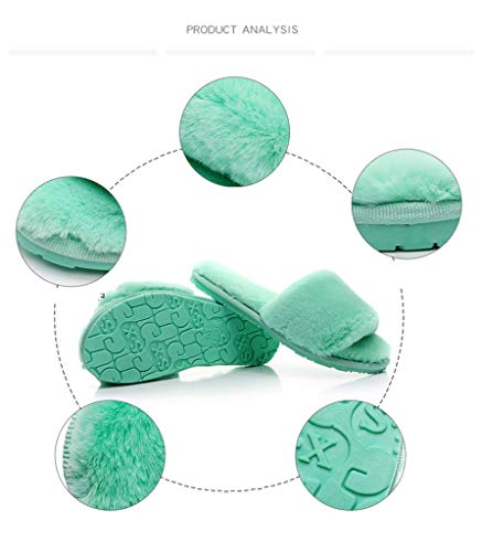 Mantener Anti Slip Green Casa Zapatillas Espesar Caliente Prape De Algodón waqxC0OTvT