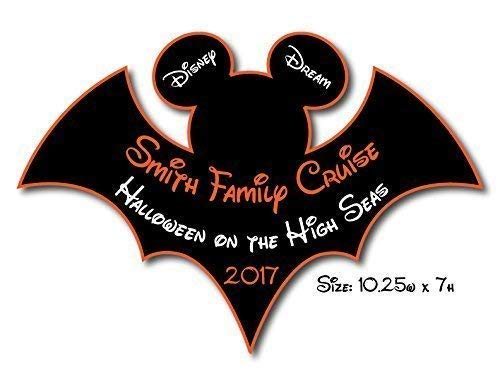 HANDMADE Disney Inspired LARGE Halloween Bat Mouse Head Family Magnet For Cruise Door -