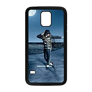 michael jackson on road wide Samsung Galaxy S5 Cell Phone Case Black xlb2-321282