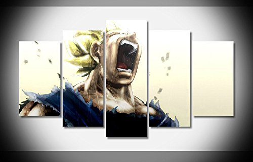 Vegeta dragon ball-z anime print poster canvas in 5 pieces