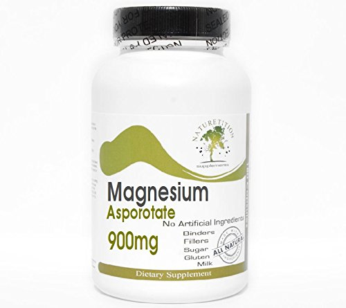Magnesium Asporotate 900mg ~ 200 Capsules - No Additives ~ Naturetition Supplements