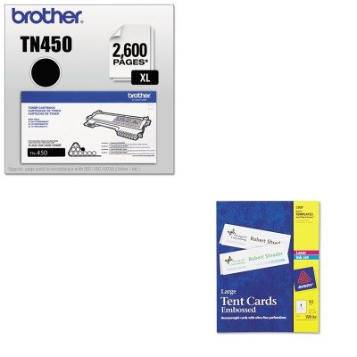 KITAVE5309BRTTN450 - Value Kit - Avery Large Embossed Tent Card (AVE5309) and Brother TN450 TN-450 High-Yield Toner (BRTTN450)
