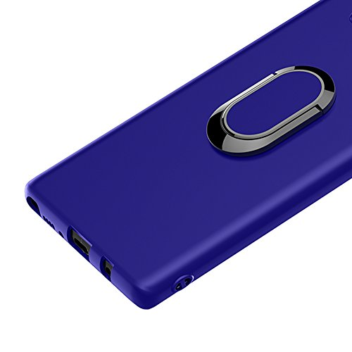Funda Samsung Galaxy Note 8 con Anillo Kickstand, Vandot 360 Grados de Giratorio Soporte Ring Grip Case [Compatible con la Caja de Montaje de Coche Magnético] Resistente Matte TPU Shockproof Anti-Arañ Anillo-4
