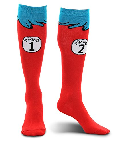 elope Dr. Seuss Thing 1 & 2 Adult Costume Socks (Thing 1 And 2 Costumes)
