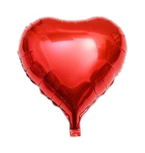 (Five-pointed star Love Aluminum 10 Pcs balloon ball for Birthday Christmas Wedding Romantic)