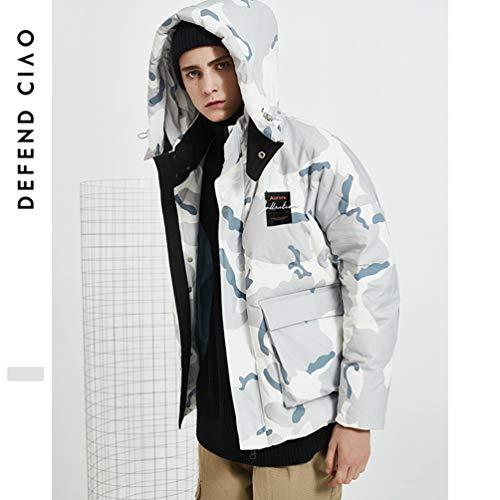 Manteau Doudoune De Camouflage d'hiver en Duvet pour Hommes éPaissie Capuche ExtéRieure LâChe Sport Chaud Sauvage