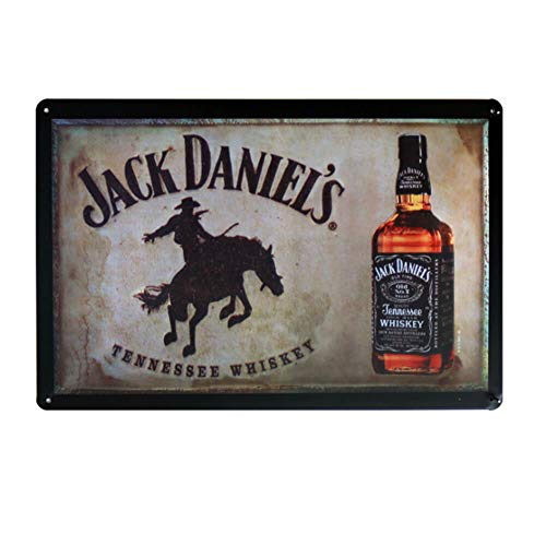 - Ayiguri Retro Tin Sign Beer Creative Metal Vintage Wall Decor Art Plaque Souvenir Home Bar Cafe Bar 12 X 8 Inches (Jack Daniel's)