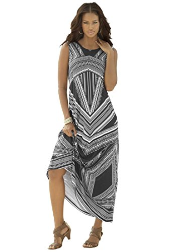 Roamans-Womens-Plus-Size-Maxi-Dress