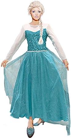 Partilandia Disfraz Reina de Hielo Azul Mujer Adulto para Carnaval ...