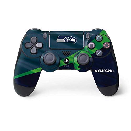(Skinit Seattle Seahawks PS4 Controller Skin - Officially Licensed NFL PS4 Decal - Ultra Thin, Lightweight Vinyl Decal Protective Wrap)