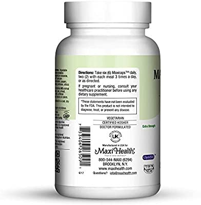 Maxi Health Allergy Support Vitamin C with MSM Sinus & Nasal Health, 90 Count