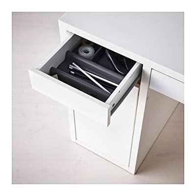 "IKEA MICKE Desk, White - It's easy to keep cords and cables out of sight but close at hand with the cable outlet at the back. Size: 41 3/8x19 5/8 "" Wipe clean using a damp cloth and a mild cleaner. Wipe dry with a clean cloth. - writing-desks, living-room-furniture, living-room - 41RPP9e8AeL. SS400  -"