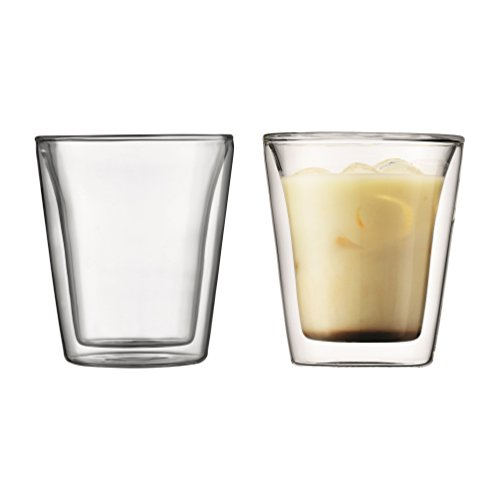 Bodum Canteen Double WallTumbler/DOF Glass, Set of 2 For Sale