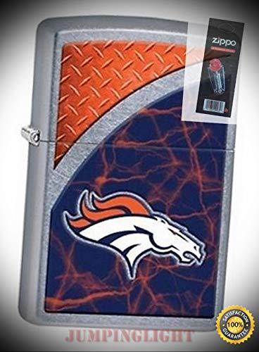 29360 Denver Broncos NFL Street Chrome Finish Lighter with Flint Pack - Premium Lighter Fluid (Comes Unfilled) - Made in USA!