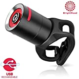 The Original LED Rechargeable red Tail Light for Bicycles | Extremely noticeable Tail Light for Maximum Visibility | Wide & Long Cover Range, 220° & 650ft | IPX5 Waterproof | Bike Light.