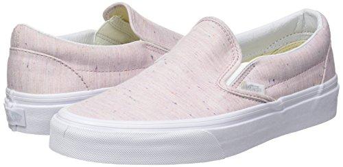 7657223fbf78 Vans Unisex Classic Slip-On (Speckle Jersey) Pink Tru Skate - Import ...