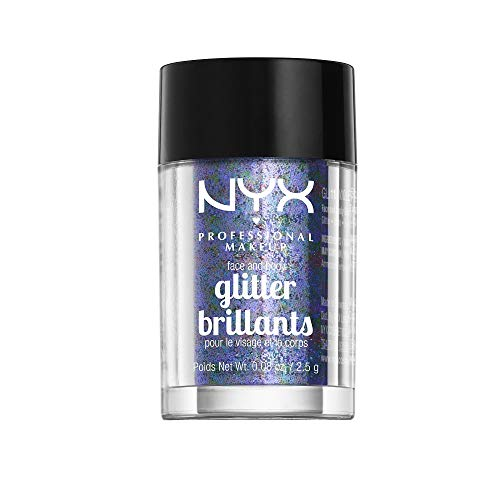 NYX PROFESSIONAL MAKEUP Face & Body Glitter, Violet