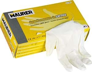 Maurer 15030710 - Guante desechable látex, talla 9 XL, caja 100 unidades