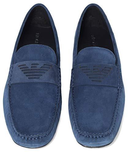 Conducción de UK Medianoche Armani Zapatos 11 Hombres Suede 1SxFwpI