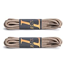 L-RUN Waxed Round Dress Shoes Replacement Shoelaces Boots Shoe Laces 2 Pair Pack