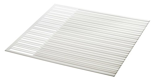 White Counter Mat - Silicone Drainer Drying Dish Mat in White - 13.5