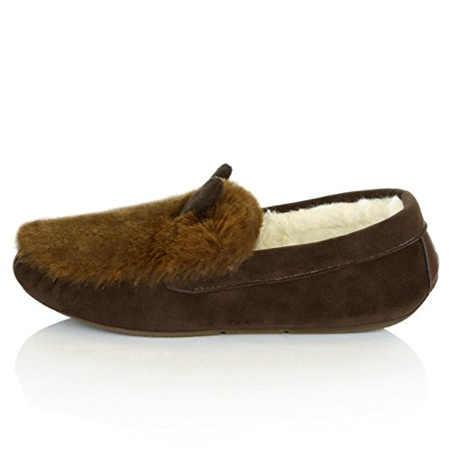 US Driving Sandal Shoes B M Loafers on Slip Flat Indoor Classic 7 Casual DailyShoes Moccasin SV Chocolate Slippers Womens IwqRUq1p