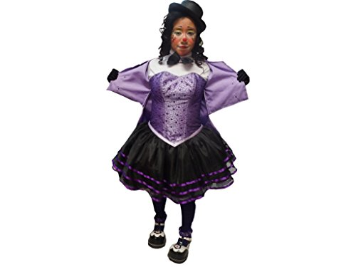 Custom Made Adult Clown Costumes (Handmade Princess Costume Women's Krusty Clown Costume Dress Party Gown Adult Custom Made Purple With White And Black)