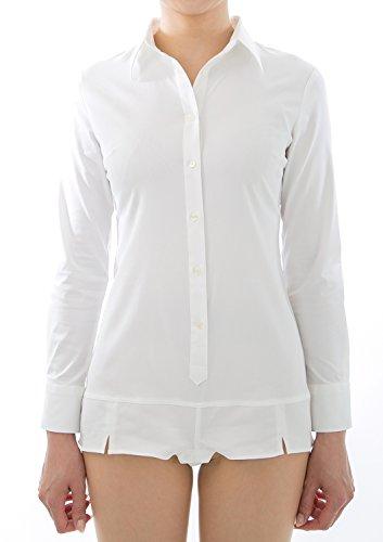 (Nサイズ)ボディシャツ長袖ツナギ M S&E ホワイト