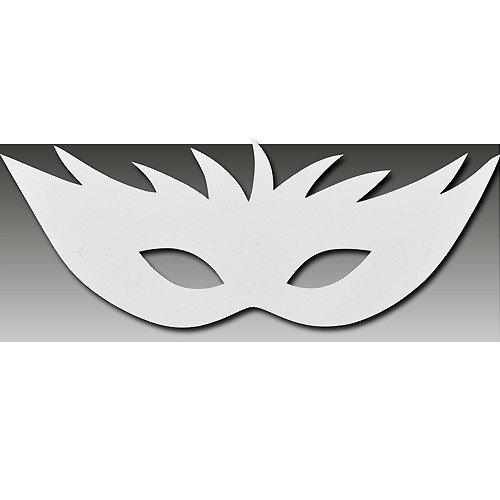 Augenmaske Venezianische Maske Aus Papier Pappe Weiss Papiermaske