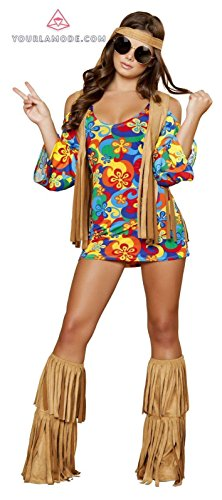 Roma Costume Three Piece Hippie Hottie Bundle with Pink Shorts