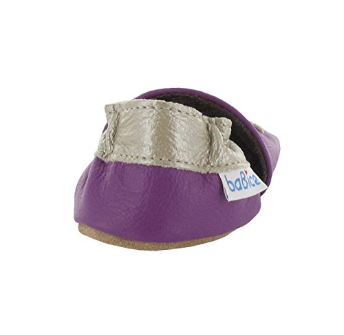 Krabbelschuhe Schmetterling Violetta in 3 Farben von baBice, Größe Schuhe:18/19 (6-12 Mon);baBice Schuhe:lila lila