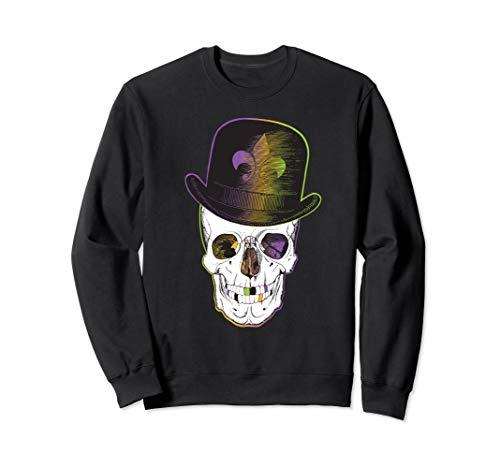 New Orleans Creole Voodoo Skull Halloween Sweatshirt (Best Jazz On Frenchmen Street New Orleans)