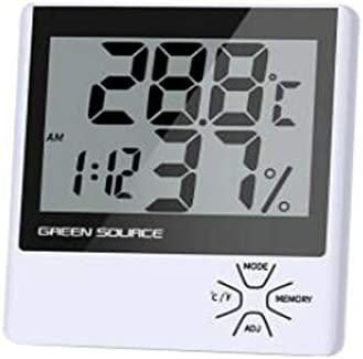 QIANZICAI 時刻アラーム多機能オフィス家庭用乾湿温度計を備えた電子湿度計、高精度の電子温度計、湿度計 キッチン温度計 (