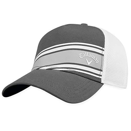 Callaway Golf 2018 Stripe Mesh Adjustable Hat, Charcoal/ White