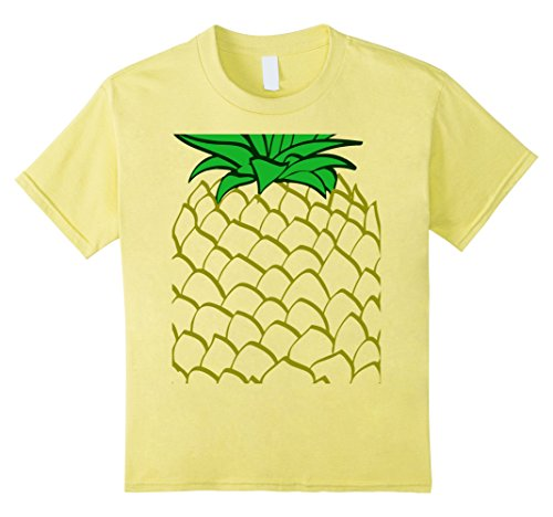 Kids Pineapple Costume Halloween T-Shirt Easy Costume 12 Lemon