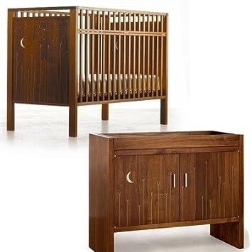 Laura Rittenhouse Studio Furniture SM Crib Changing Table Silver Moon Crib  Set