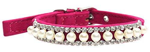 FONPOO Fashion Cute Bling Dog Puppy Cat Pet Jewelry Collar Bow Tie (Cute Girl)