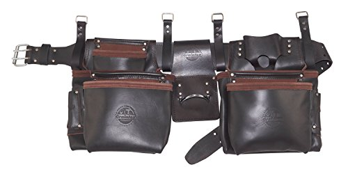 Graintex OD2557 4Piece Pro Framers 15 Pocket Tool Belt Top Grain Oil Tanned (Oil Top Grain)