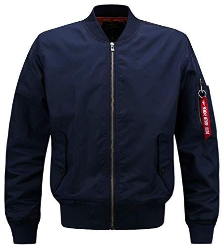 Giacca Tempo Da Libero In Force A Classiche Giacche Abbigliamento Il Poliestere Air Outdoor Vento Blau Patches Uomo Per Bomber 4q6np8w5