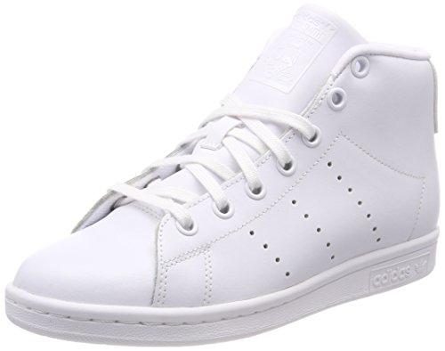 adidas Unisex-Kinder Stan Smith Mid J Fitnessschuhe, Schwarz Elfenbein (Ftwr White/ftwr White/ftwr White)