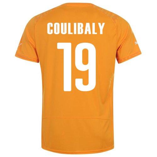 額クラシックバーPUMA COULIBALY #19 IVORY COAST HOME JERSEY WORLD CUP 2014/サッカーユニフォーム コートジボワール ホーム用 ワールドカップ2014 背番号19 クリバリ
