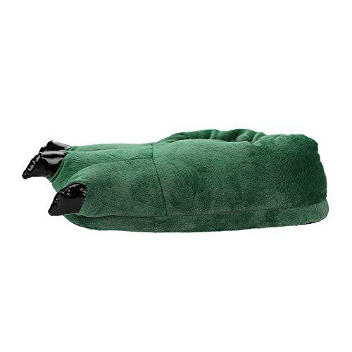 Ultra Uomo Donna Similpelle Cotone Casa D' Scarpa Caldo Verde Animale Pantoufle Epais In Fodera Figura Autunno Slipper Di Chausson Unisex Suola souple Peluche Antiscivolo Inverno aBngxq