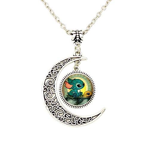 - Liumart Handmade Moon Cartoon Pendant Necklace, Cute Crescent Moon Jewelry