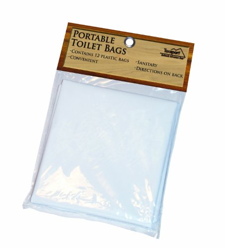 Texsport Disposable Urine, Fecal, Waste Bags for Portable - Portable Bags Toilet