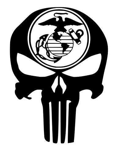 UR Impressions MBlk Marine Eagle Globe Anchor Punisher Skull Decal Vinyl Sticker Graphics for Car Truck SUV Van Wall Window Laptop Matte Black 5.5 X 4.3 Inch URI330-MB -