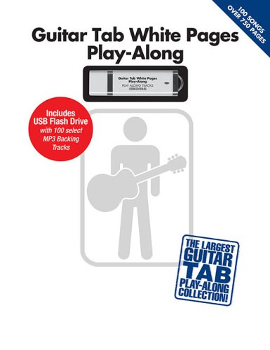 Guitar Play Along Tracks - Guitar Tab White Pages Play-Along: Includes USB Flash Drive with 100 Select MP3 Backing Tracks