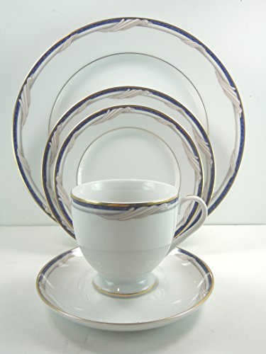 Gorham Fine China Golden Swirl 5 Piece Place Setting